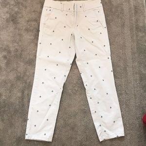 LOFT Gray Khaki Marisa Cut Pants - size 4